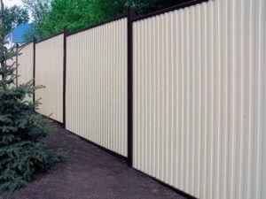 Забор на сложной местности