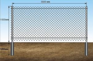 забор из рабицы натяжнойзабор из рабицы натяжной