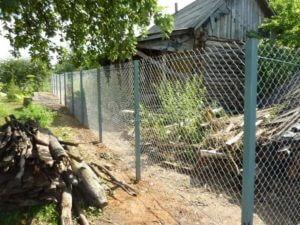 забор из сетки натяжной