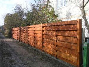 деревянный забор для дома