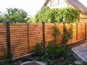 деревянный забор елочка