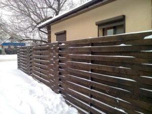 забор горизонтальная плетенка