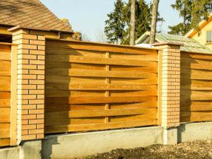 Деревянный забор «Плетенка»
