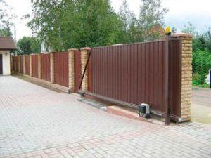 автоматические откатные ворота недорого